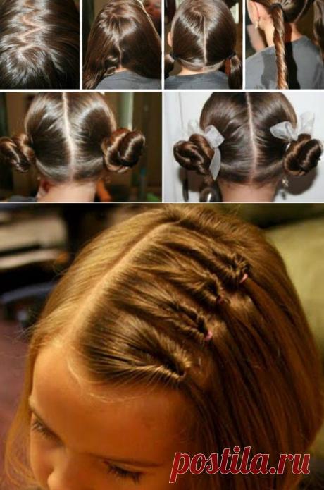 Причёски в школу... 7 простых вариантов на каждый день!