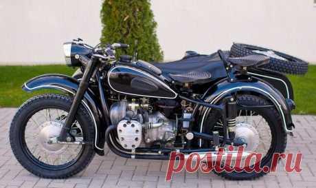 """Труженик советских """"столовок"""" мотоцикл К-750 с грузовой коляской.   Водитель непрофессионал.   Яндекс Дзен"""
