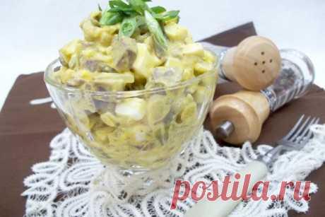 Салат с сердцем, яйцами и луком | CityWomanCafe.com