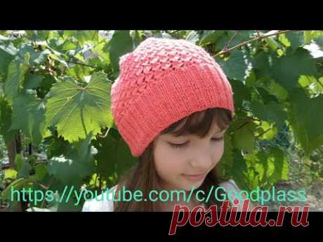 Cap spokes Knitting around Asterisk pattern in chessboard order. Knitting(Hobby).
