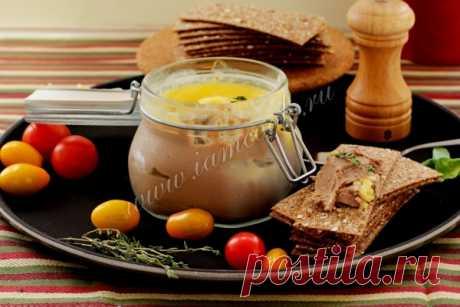 Паштет из куриной печени с чесноком — рецепт с фото пошагово