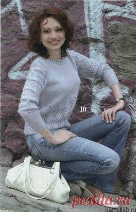 Пуловер красивым узором спицами. Пуловер с ажурным узором женский   Вязание для всей семьи
