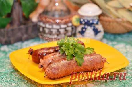 Домашняя колбаса из печени - рецепт с пошаговыми фото.