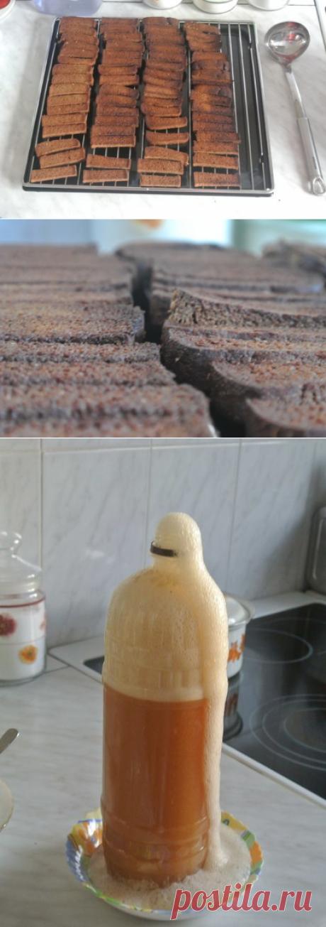 Рецепт кваса из бородинского хлеба.