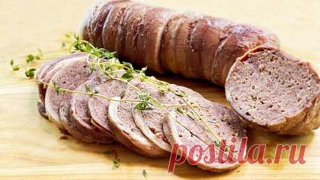 Домашняя колбаса вкуснее магазинной без заморочек из доступных продуктов, без кишок, без желатина