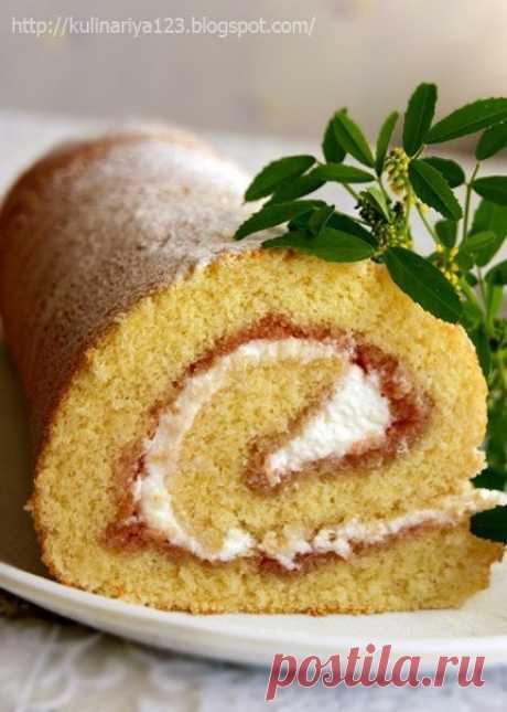 Рулет или рецепт очень удачного бисквита | Школа шеф-повара