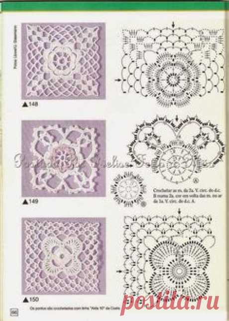 Irish crochet &: Модели с крупными квадратами
