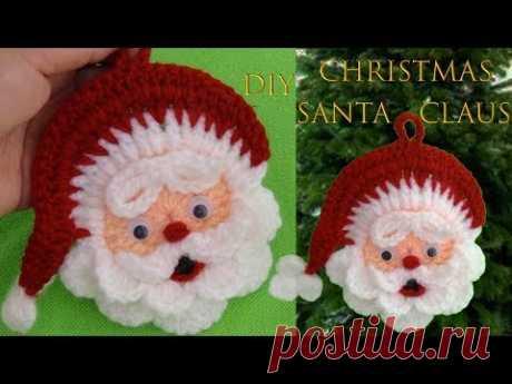 Como hacer Papa Noel a Crochet de Navidad ideas para decorar Tutorial navideño