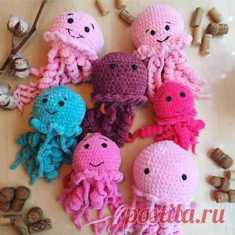 Мягкие медузы амигуруми | Hi amigurumi