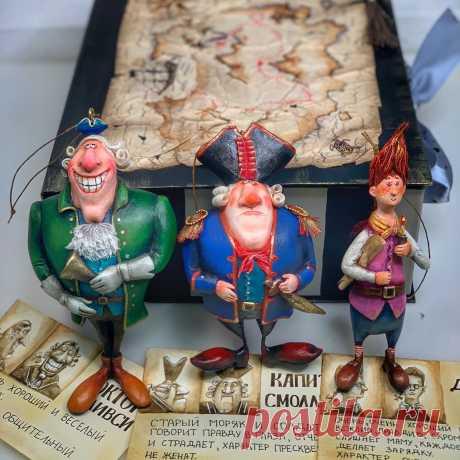 Набор ёлочных игрушек пираты « остров сокровищ» – купить на Ярмарке Мастеров – N8AK8RU | Интерьерная кукла, Казань