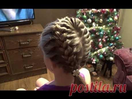 Супер причёска за 10 минут! Hairstyles.Braids.Tutorial.