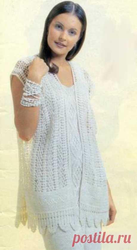 Вязанный жакет для полных женщин - Схемы вязания - Крючок и спицы