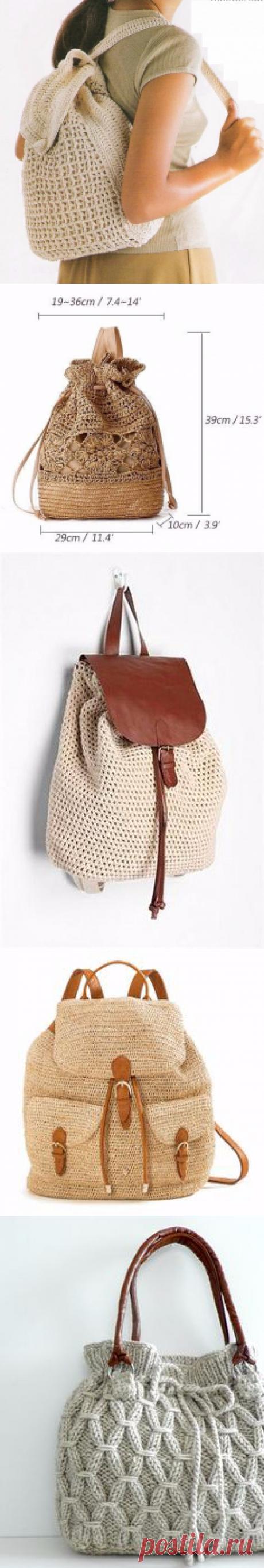 Вязаные сумки, рюкзаки.схемы.