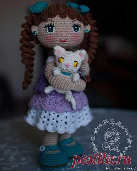 Амигуруми. Куколка Сашенька. Описание
