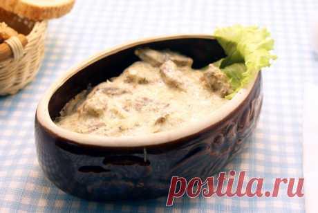 Печень по-строгановски – Рецепт с фото. Рецепты. Вторые блюда. Блюда из мяса