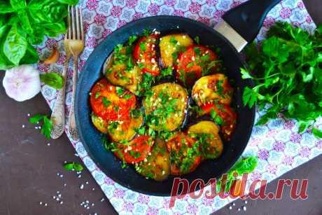 Баклажаны кружочками на сковороде с чесноком жареные рецепт с фото пошагово и видео - 1000.menu