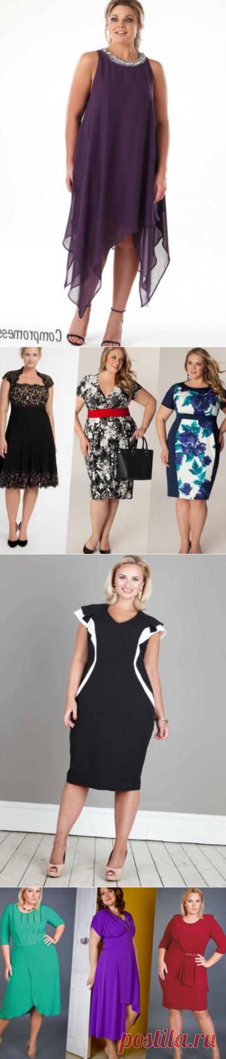 Фасоны платьев из шифона для полных женщин