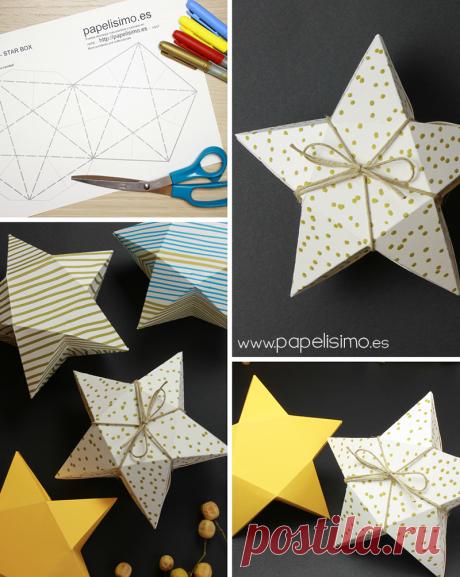 Обучающая картонная коробка со звездообразной формой