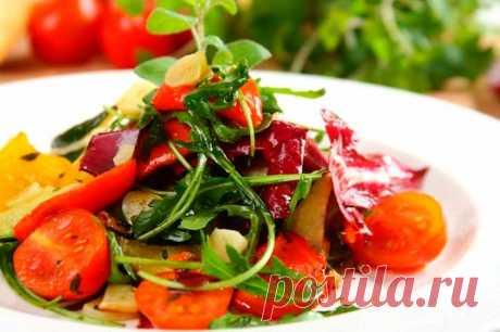 Салат из печеных овощей в духовке – пошаговый рецепт с фото.