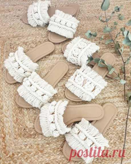 Тапочки-макраме Модная одежда и дизайн интерьера своими руками