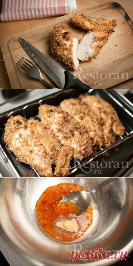 Еще один вариант приготовления куриного филе в духовке. Пряный, с восточными нотами - прекрасно подойдет к рису, салату из овощей с китайской капустой и соевым соусом, в общем - к любым гарнирам с восточными нотами. В холодном виде - в азиатский салат или на бутерброды.