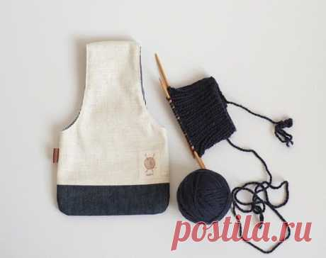 Как сшить сумочку для вязания, с которой будет удобно в любом месте