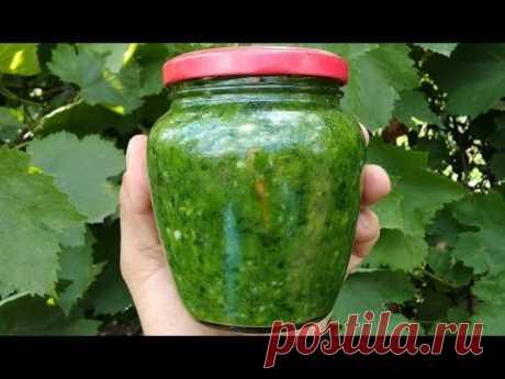 Поделюсь рецептом самой вкусной зеленой аджики без варки на зиму. Готовится очень просто, но имеет изумительный вкус и запах.
