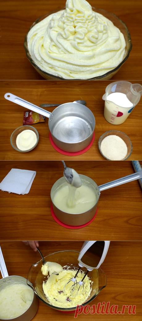 Нежнейший крем из манной каши. | Ох и вкусно | Яндекс Дзен