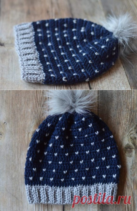 Как связать теплую шапку со снежинками - 5 мастер-классов