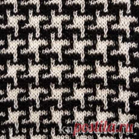 Planet of Knitting   Pattern Chicken pad. Scheme of knitting of a pattern spokes. Lazy zhakkarda.