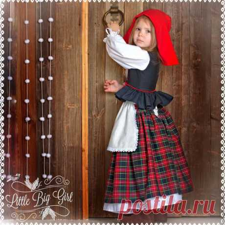 Купить Костюм Красной Шапочки - комбинированный, красная шапочка, костюм для фотосессии, костюм детский
