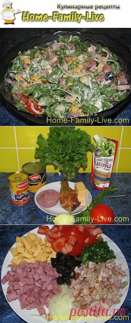 Салат из копченой курицы - рецепт с пошаговым фото | Кулинарные рецепты