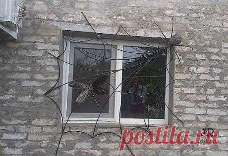 Забавная решетка на окна)