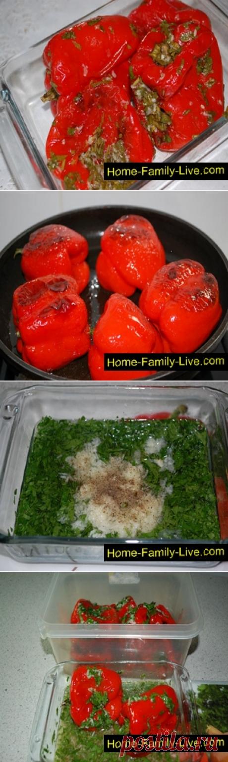 El pimiento marinado frito - poshagovyy la receta con las fotorecetas de cocina