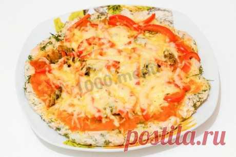 Пицца без муки диетическая