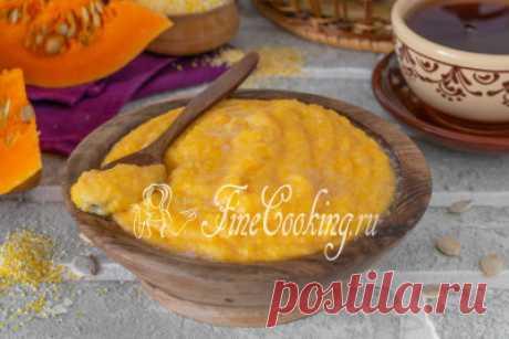 Кукурузная каша с тыквой - рецепт