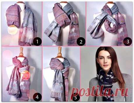 Как красиво завязать шарф на шее поверх куртки: пошагово, фото