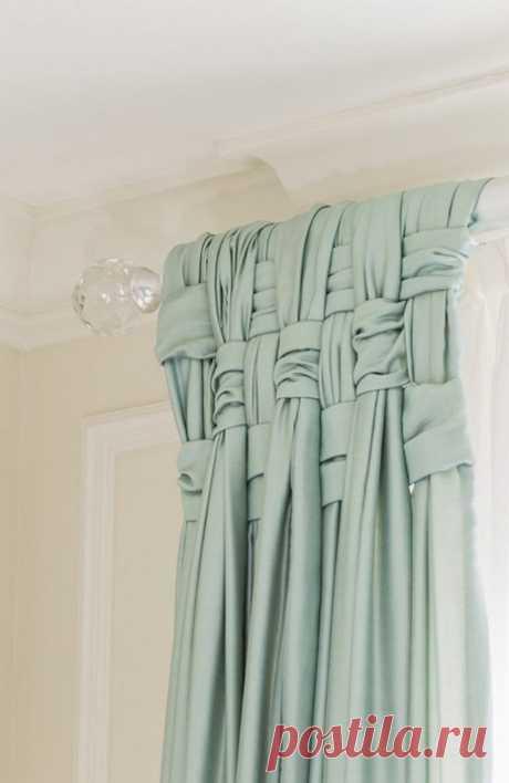 Как интересно подвесить шторы - идеи в фотографиях Украсить спальню, гостиную, детскую или даже кухню могут обыкновенные шторы. Шторы даже из самой простой ткани могут выглядеть необычно, дорого и в то же время уютно. Все что для этого нужно это кольца или крючки, необычной формы карниз или красивые текстильные драпировки...
