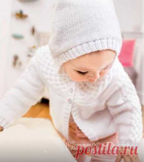 "Children's jacket with a hood from braids the scheme"" I Like to Knit"