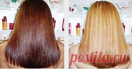 Как осветлить волосы без красок и перекиси. Секретом поделился опытный парикмахер