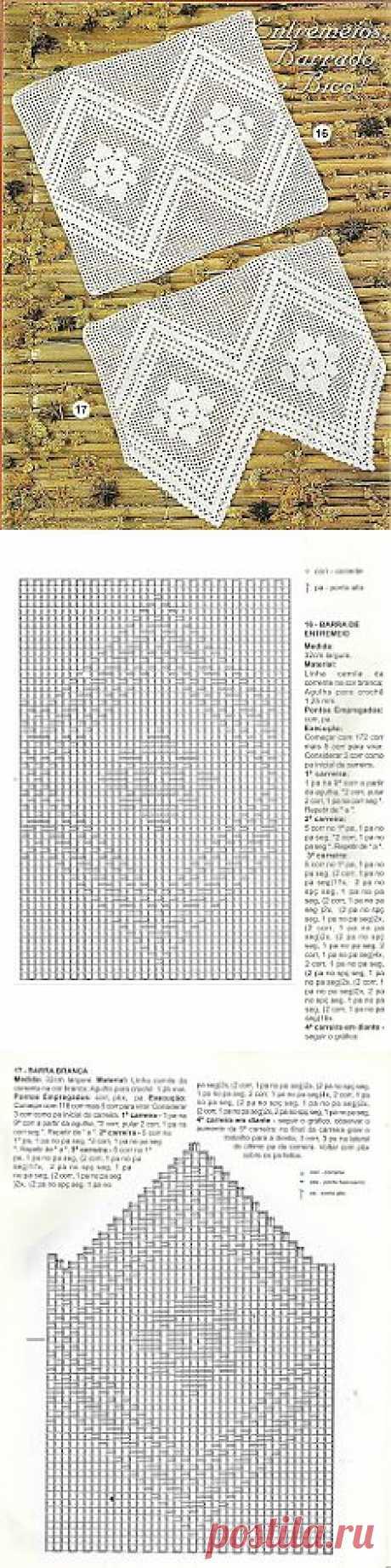 MIRIA CROCHÊS E PINTURAS: BELEZURA DE BARRADO DE CROCHÊ E ENTREMEIO