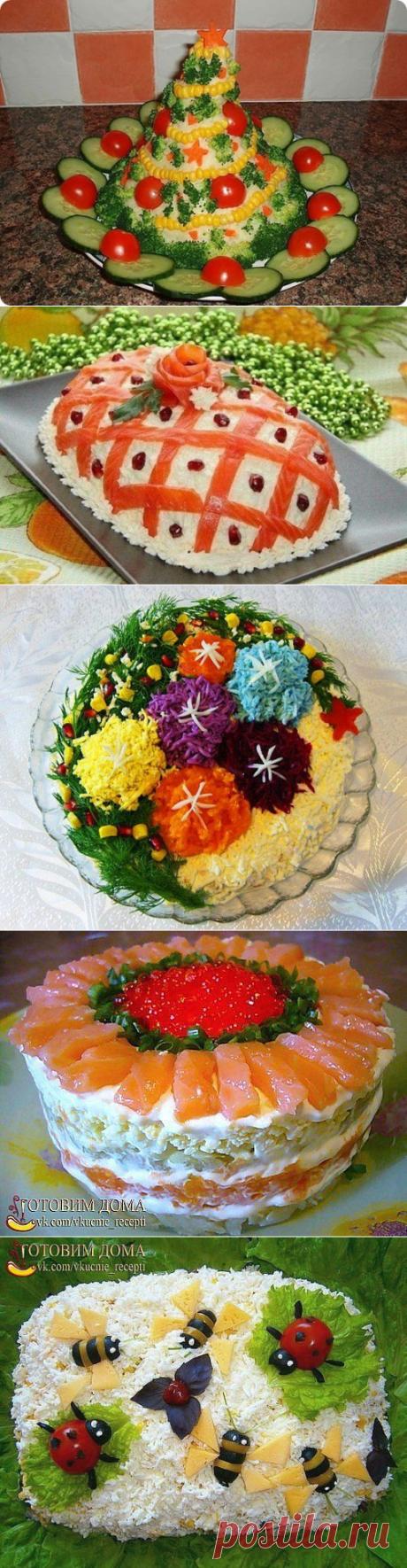 Два десятка красивых и вкусных салатов к НГ