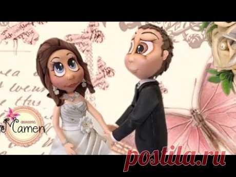2 Parte Como hacer una pareja de novios hecho con gomaeva - Foamy Creaciones Mamen