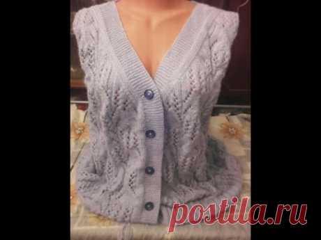 Женская кофта с V-образным вырезом Большой размер 58-60.#мастеркласс #вязание #knitting #лучшее #мк