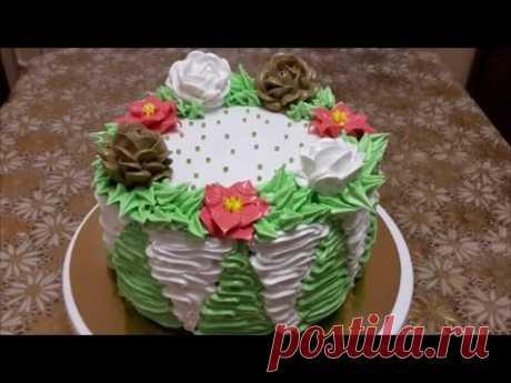 Adornamiento de las tortas en las condiciones de casa por la crema la Formalización de las tortas por la crema Cake decoration