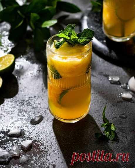 Персиковый безалкогольный мохито