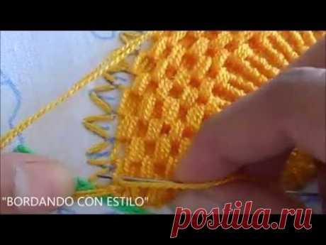 PASO A PASO PUNTADA EN CLAVEL 4 EN 1