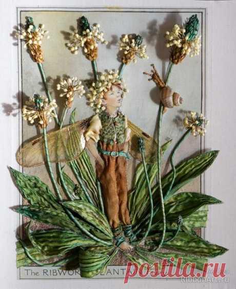 Fees des fleurs au ruban et en relief (BRODERIE) - BúsquedadeGoogle
