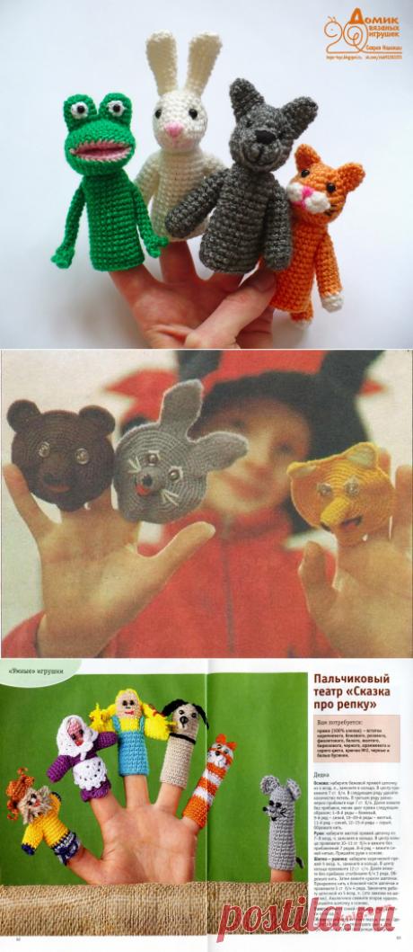 Вязание спицами игрушки пальчиковые