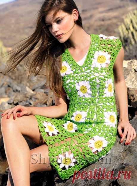 Платье из кружевных мотивов - SHPULYA.com